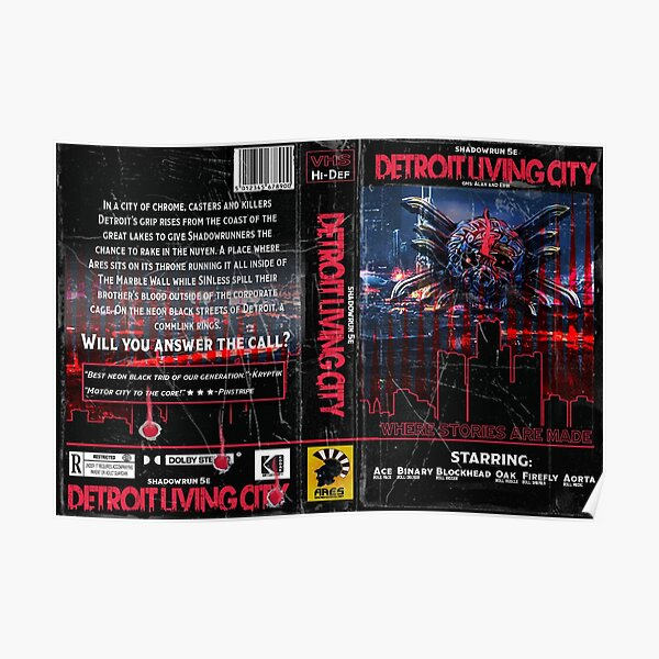 Detroit Living City VHS Trid art Poster