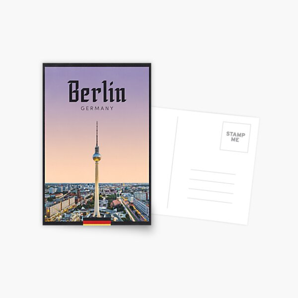 Travel Poster - TV Tower, Berlin, Germany Postcard