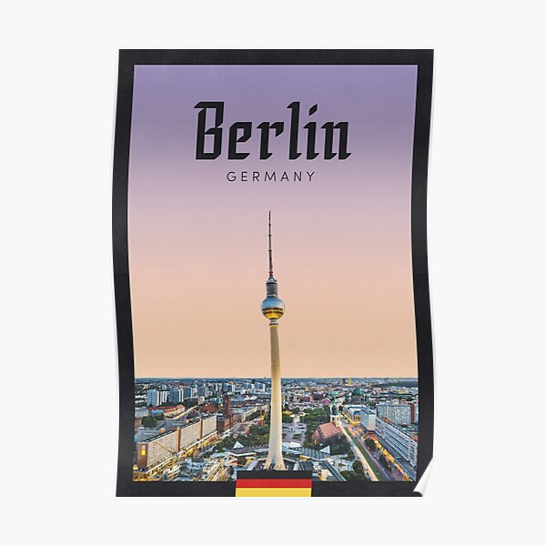 Travel Poster - TV Tower, Berlin, Germany Poster
