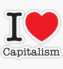 I Love Capitalism Sticker