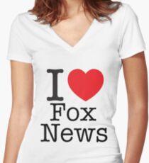 I LOVE Fox News Women's Fitted V-Neck T-Shirt