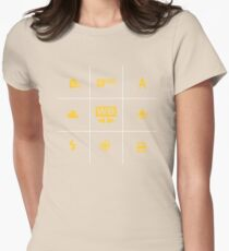 Camera White Balance Tic Tac Womens Fitted T-Shirt