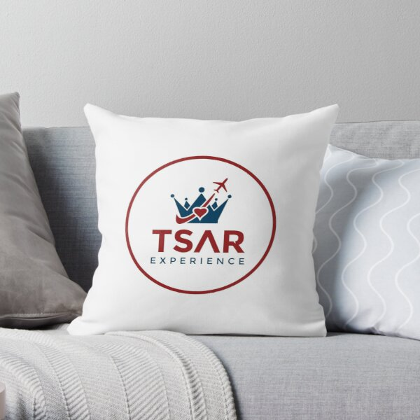Tsar Experience Full Logo Designs Throw Pillow
