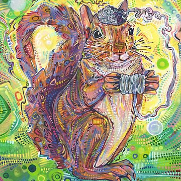 Squirrel brain painting - 2019 by gwennpaints