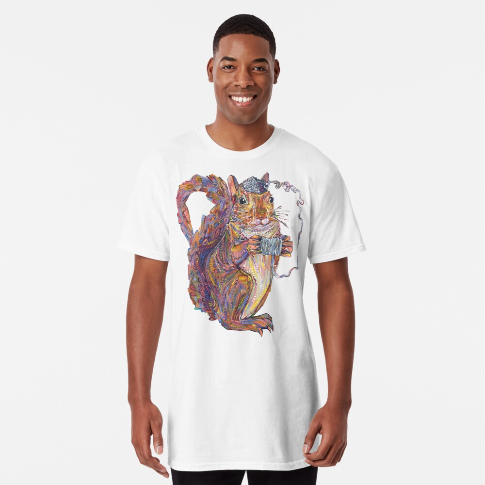 Squirrel brain painting - 2019 Long T-Shirt Front