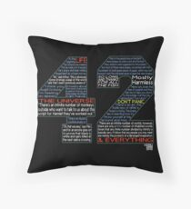 Hitchhiker's Guide 42 Quotes Throw Pillow