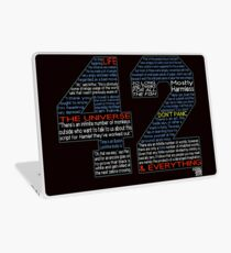 Hitchhiker's Guide 42 Quotes Laptop Skin