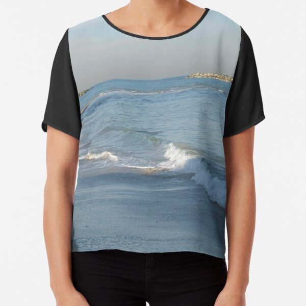 #water, #beach, #sea, #surf, #sunset, #sand, #landscape, #storm, #seascape, #wave, #sky, #foam, #outdoors Chiffon Top