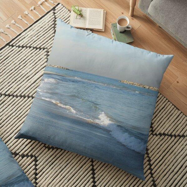 #water, #beach, #sea, #surf, #sunset, #sand, #landscape, #storm, #seascape, #wave, #sky, #foam, #outdoors Floor Pillow