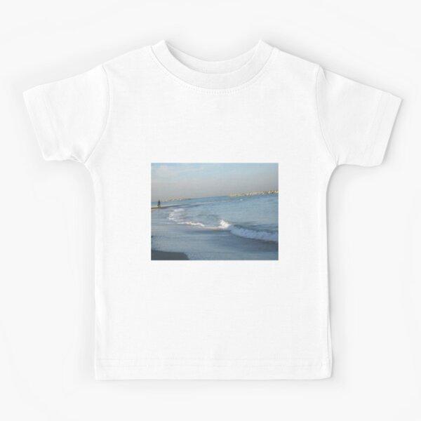 #water, #beach, #sea, #surf, #sunset, #sand, #landscape, #storm, #seascape, #wave, #sky, #foam, #outdoors Kids T-Shirt