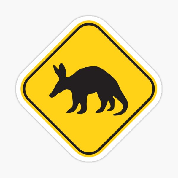 """Anteater crossing/caution road sign!"""" Sticker by ArtBart 