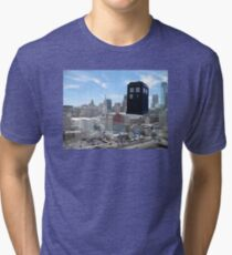 TARDIS Over Philly Tri-blend T-Shirt