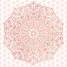 Coral Nature Mandala by Kelly Dietrich
