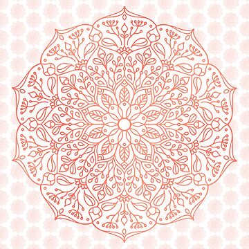 Coral Nature Mandala by kellydietrich