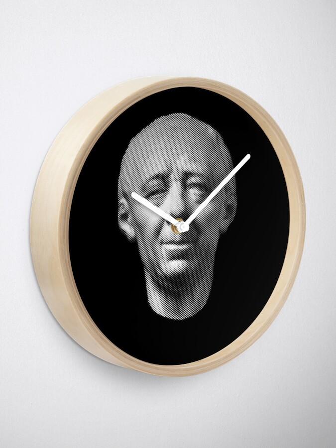 Alternate view of Leonhard Euler, portrait Clock