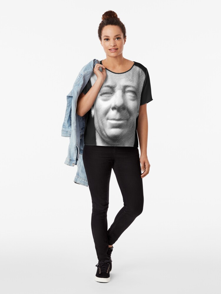 Alternate view of Leonhard Euler, portrait Chiffon Top