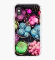 Cactus rainbow iPhone Case