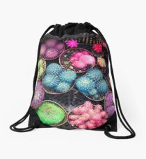 Cactus rainbow Drawstring Bag