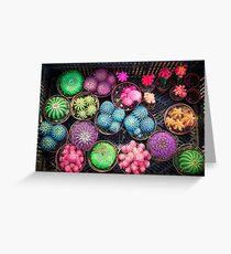Cactus rainbow Greeting Card