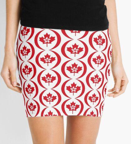 Hong Konger Canadian Multinational Patriot Flag Series Mini Skirt