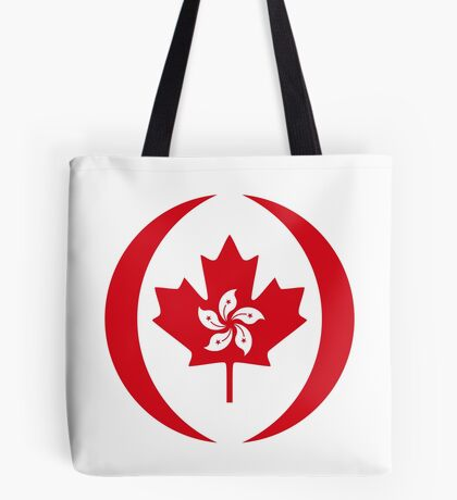 Hong Konger Canadian Multinational Patriot Flag Series Tote Bag