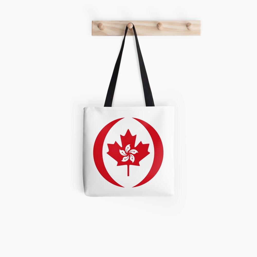 Hong Konger Canadian Multinational Patriot Flag Series Tote Bag