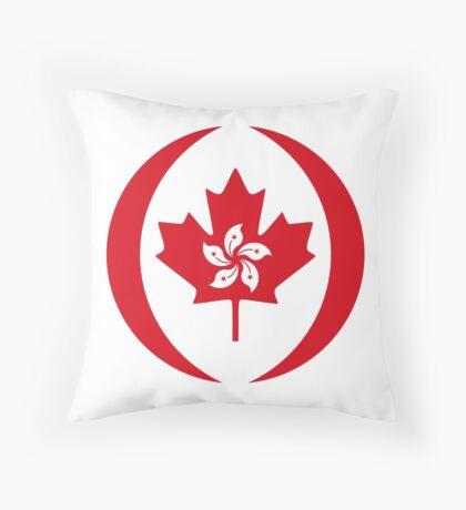 Hong Konger Canadian Multinational Patriot Flag Series Throw Pillow