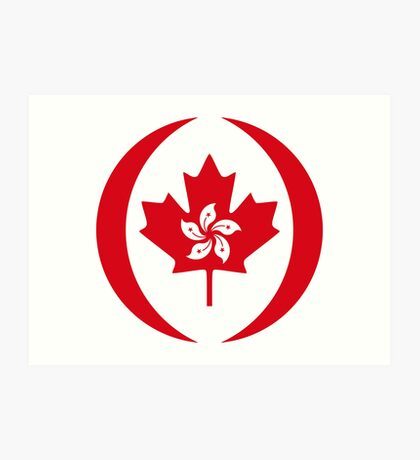 Hong Konger Canadian Multinational Patriot Flag Series Art Print