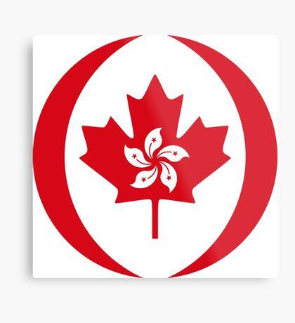 Hong Konger Canadian Multinational Patriot Flag Series Metal Print