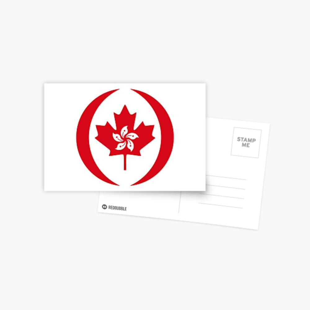 Hong Konger Canadian Multinational Patriot Flag Series Postcard