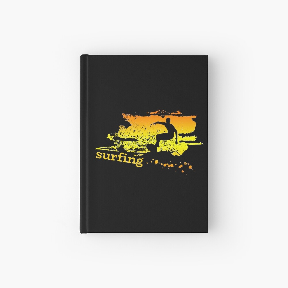 Surf surf surfistas surf tabla surf ola regalo Cuaderno de tapa dura
