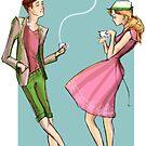 Spring - fashion illustration and romance by Alex e Clark