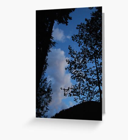 Blue Sky Evening Greeting Card