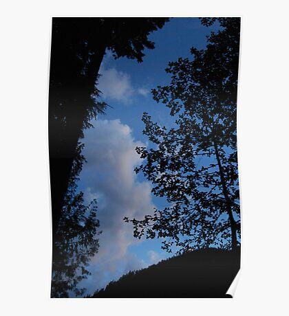 Blue Sky Evening Poster