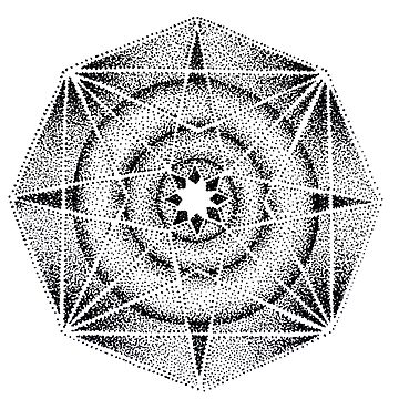 Dotwork Geometric by HAMUSIT