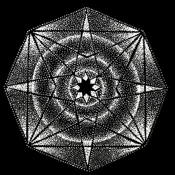 Dotwork Geometric - White by HAMUSIT