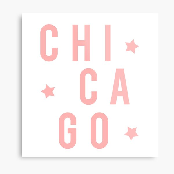 Chicago Stars - Light Pink Metal Print
