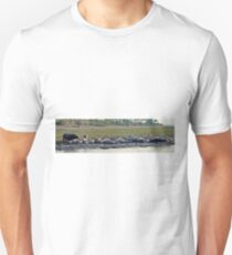 Hippo beauty salon (panorama)  Hippopotamus Amphibius T-Shirt