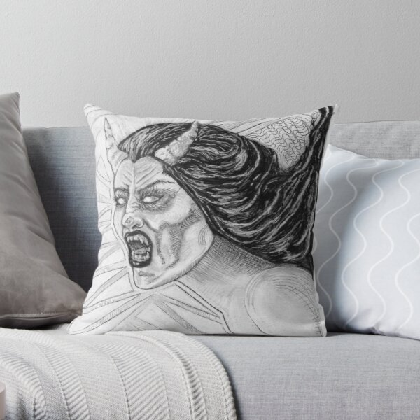 Succubus Scream Throw Pillow