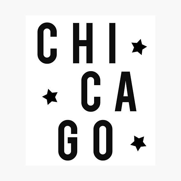 Chicago Stars - Black Photographic Print
