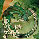 Mighty Green Lizard  by PETAbstractA