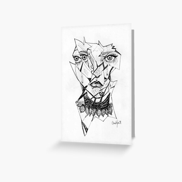 Shattered Reflection Greeting Card