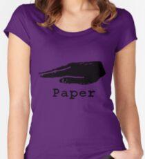 Rock Paper Scissors T-shirt (PAPER) Women's Fitted Scoop T-Shirt