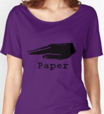Rock Paper Scissors T-shirt (PAPER) Women's Relaxed Fit T-Shirt