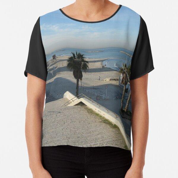 #water, #beach, #sea, #travel, #landscape, #sky, #tree, #city, #tourism, #Seaside #resort Chiffon Top