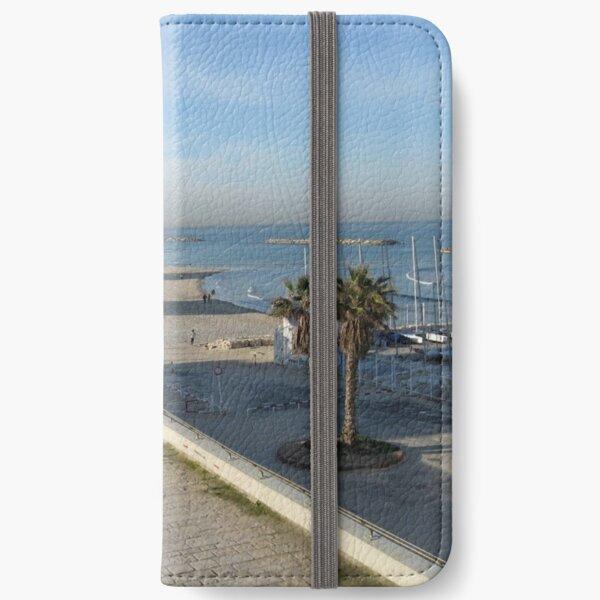 #water, #beach, #sea, #travel, #landscape, #sky, #tree, #city, #tourism, #Seaside #resort iPhone Wallet