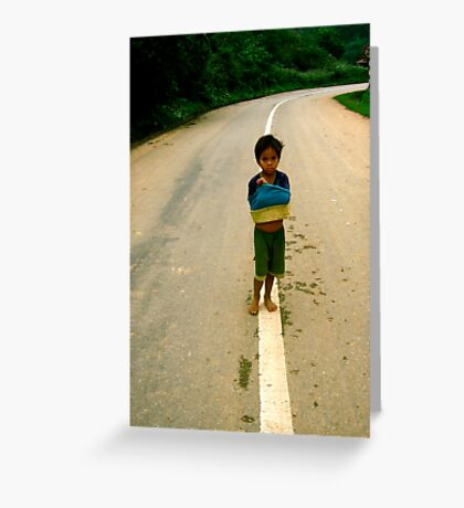 The Road to Poverty Greeting Card