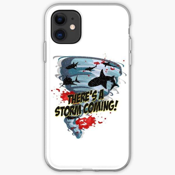 Shark Tornado - Shark Cult Movie - Shark Attack - Shark Tornado Horror Movie Parody - Storm's Coming! iPhone Soft Case