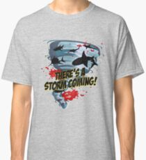 Shark Tornado - Shark Cult Movie - Shark Attack - Shark Tornado Horror Movie Parody - Storm's Coming! Classic T-Shirt