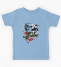 Shark Tornado - Shark Cult Movie - Shark Attack - Shark Tornado Horror Movie Parody - Storm's Coming! Kids Clothes